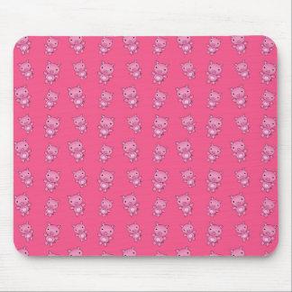 Modelo rosado lindo del cerdo tapetes de raton