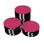 Modelo rosado lindo del dachshund fichas de póquer