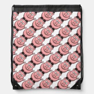 Modelo rosado lindo del dibujo animado de los coch mochila