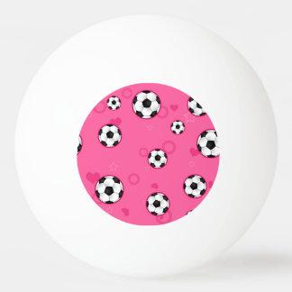 Modelo rosado lindo del fútbol pelota de tenis de mesa