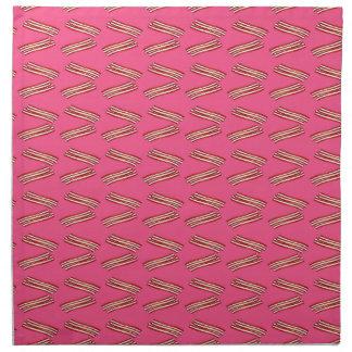 Modelo rosado lindo del tocino servilletas imprimidas