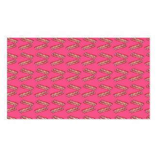 Modelo rosado lindo del tocino tarjetas personales