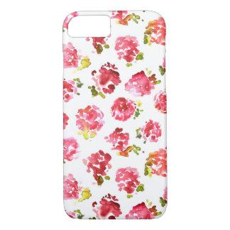 Modelo rosado lindo y elegante de los rosas del funda iPhone 7