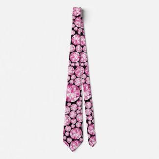 Modelo rosado lujoso del diamante corbatas personalizadas