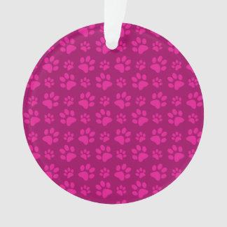 Modelo rosado magenta de la impresión de la pata d