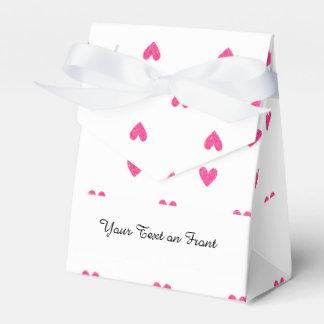 Modelo rosado mexicano de los corazones del brillo cajas para detalles de boda
