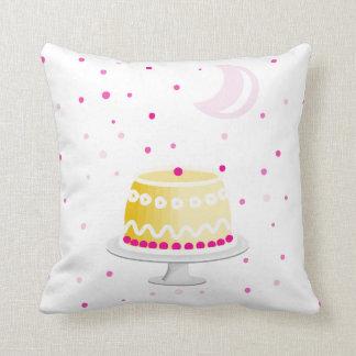 Modelo rosado moderno de la luna y de la torta de cojín