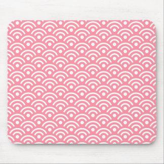 Modelo rosado Mousepad de Seigaiha Alfombrilla De Ratón