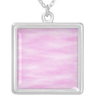 Modelo rosado. Ondas suaves, nubes Colgante Cuadrado