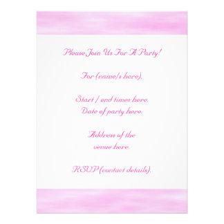 Modelo rosado Ondas suaves nubes Invitacion Personal