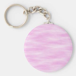 Modelo rosado. Ondas suaves, nubes Llavero Redondo Tipo Pin