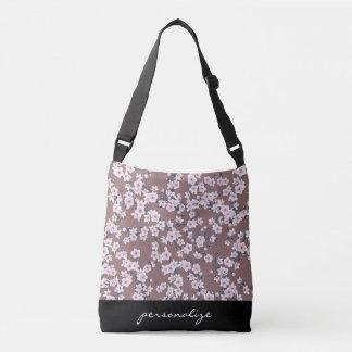Modelo rosado oscuro de las flores de cerezo bolsa crossbody