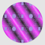 modelo rosado pegatina redonda