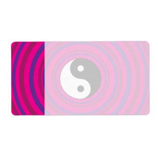 Modelo rosado púrpura del círculo concéntrico de Y Etiqueta De Envío