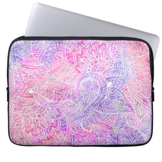 Modelo rosado púrpura femenino abstracto del bosqu mangas portátiles