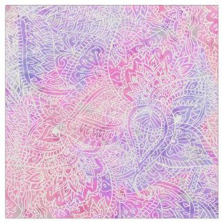 Modelo rosado púrpura femenino abstracto del telas
