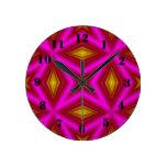 Modelo rosado relojes de pared