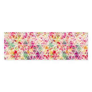 Modelo rosado retro de los triángulos de la tarjetas de visita mini