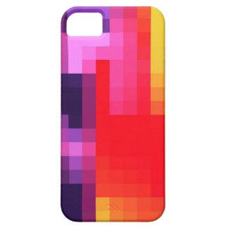 Modelo rosado rojo púrpura fresco del extracto del funda para iPhone 5 barely there