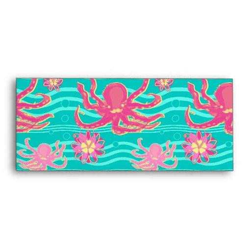 Modelo rosado subacuático del pulpo