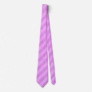 Modelo rosado sucio de la raya corbatas personalizadas