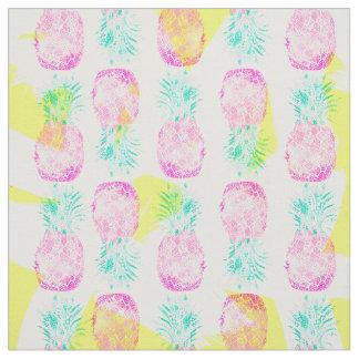 Modelo rosado tropical de las piñas del amarillo telas