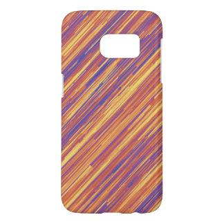Modelo rosado y amarillo púrpura de la diagonal de fundas samsung galaxy s7