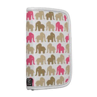 Modelo rosado y beige del elefante organizador