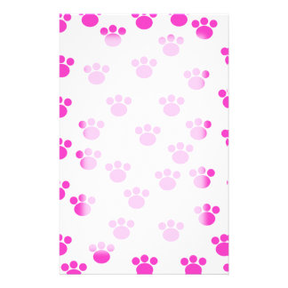 Modelo rosado y blanco brillante de la impresión d papeleria