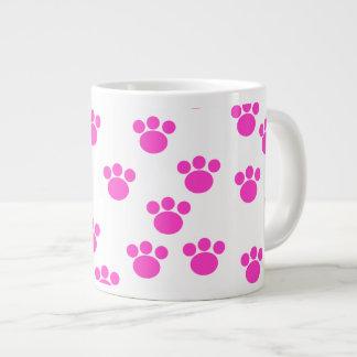 Modelo rosado y blanco brillante de la impresión d taza grande