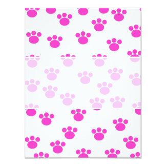 Modelo rosado y blanco brillante de la impresión invitación 10,8 x 13,9 cm