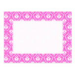 Modelo rosado y blanco brillante del damasco tarjeta postal