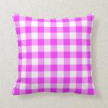Modelo rosado y blanco de la guinga almohada