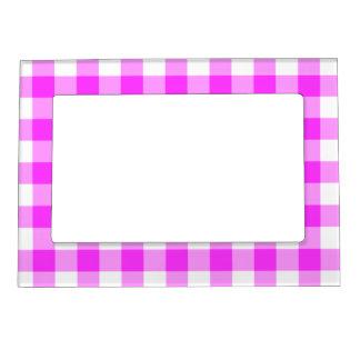 Modelo rosado y blanco de la guinga foto de imanes