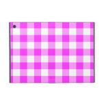 Modelo rosado y blanco de la guinga iPad mini cobertura