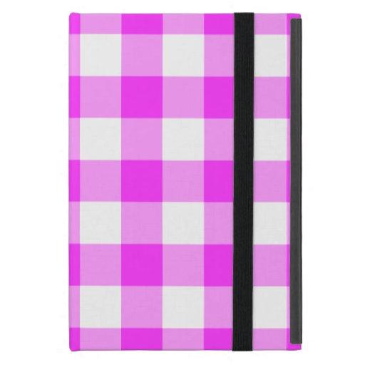 Modelo rosado y blanco de la guinga iPad mini carcasas