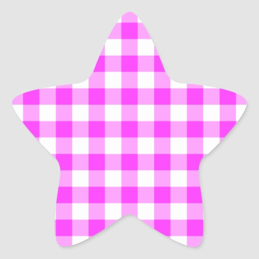 Modelo rosado y blanco de la guinga colcomanias forma de estrellaes personalizadas