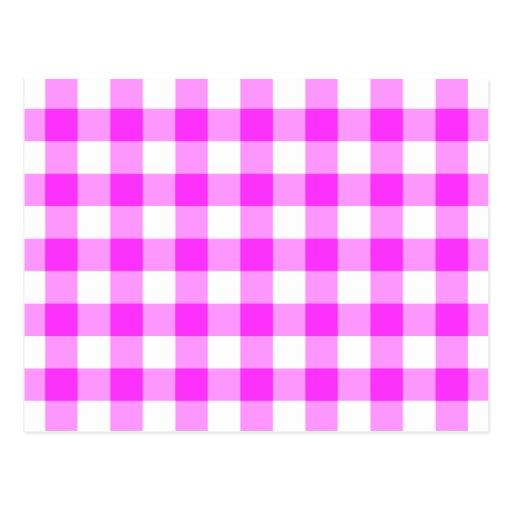 Modelo rosado y blanco de la guinga tarjetas postales