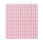 Modelo rosado y blanco de la hoja blocs de notas