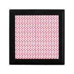 Modelo rosado y blanco de la hoja caja de recuerdo