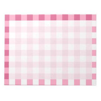 Modelo rosado y blanco del control de la guinga blocs de notas