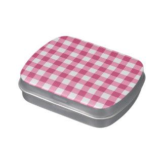 Modelo rosado y blanco del control de la guinga frascos de dulces