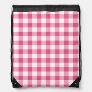 Modelo rosado y blanco del control de la guinga mochilas