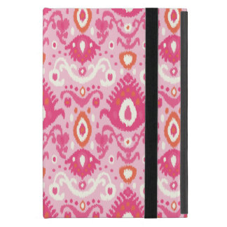 Modelo rosado y coralino de Ikat iPad Mini Cobertura