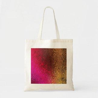 Modelo rosado y del oro bolsa tela barata
