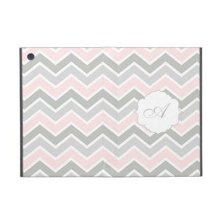 Modelo rosado y gris de Chevron del zigzag del mon iPad Mini Protector