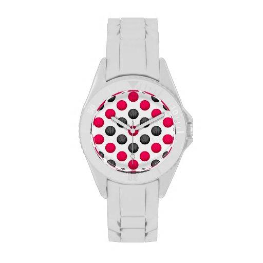 Modelo rosado y gris del baloncesto relojes de mano