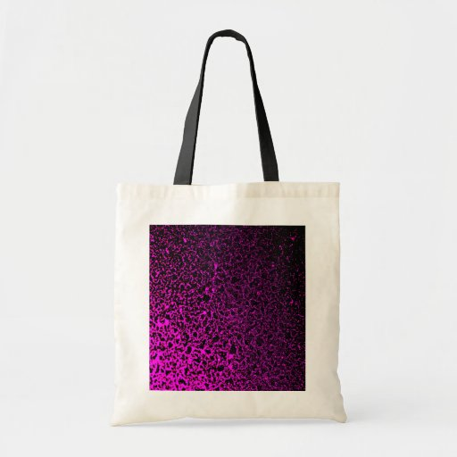 Modelo rosado y negro abstracto bolsa tela barata