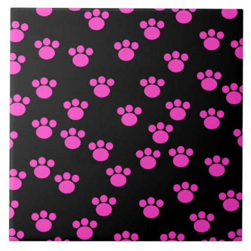 Modelo rosado y negro brillante de la impresión de azulejo cerámica