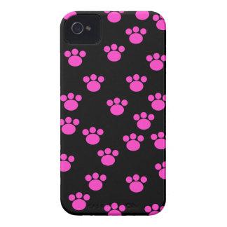 Modelo rosado y negro brillante de la impresión de funda para iPhone 4